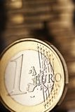 关闭一枚欧洲硬币 免版税库存照片
