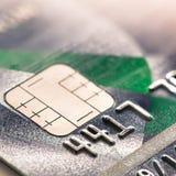 关闭与信用卡 免版税图库摄影