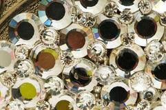 关闭与小珠的五颜六色的背景 图库摄影