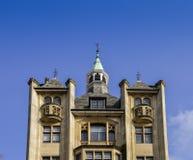 关闭与拷贝空间的19世纪大厦在白厅,伦敦,英国,英国 免版税库存照片