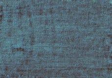 关闭与空的拷贝空间的蓝色牛仔布纹理 免版税图库摄影