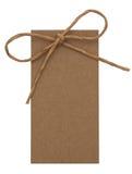 关闭与纸丝带的看板卡附注 免版税库存照片
