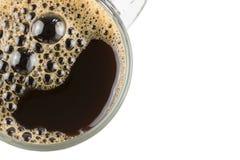 关闭与被隔绝的泡影的无奶咖啡 库存图片