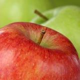 关闭与copyspace的红色苹果果子 图库摄影