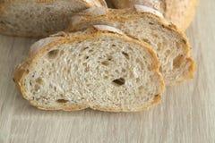 关闭两布朗切的有壳的法国面包 免版税图库摄影