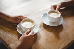 关闭两杯咖啡 免版税图库摄影