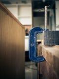关闭为木匠的木制品工具 免版税图库摄影