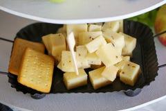 关闭乳酪选择 库存图片