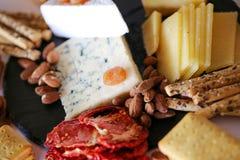 关闭乳酪选择 免版税库存图片