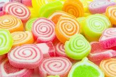 关闭五颜六色的糖果 库存照片