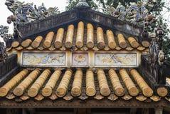 关闭佛教寺庙屋顶  免版税库存照片