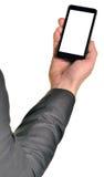 关闭使用流动巧妙的电话的人 库存照片