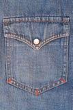 关闭使用的牛仔裤 免版税库存图片