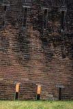关闭倾斜的砖塔 库存照片