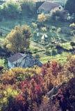 关闭农村场面照片,蓝色过滤器 免版税图库摄影