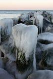 关闭冰在码头  库存图片