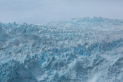 关闭冰川 免版税图库摄影