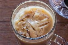 关闭冰冻咖啡 库存图片