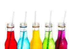 关闭凉快的五颜六色的饮料 免版税库存图片