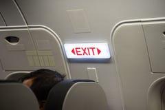 关闭出口签到乘客飞机 库存照片