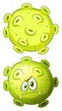 关闭前面的细菌和后面看法 向量例证