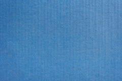 关闭卡拉服特蓝纸箱子纹理和背景 免版税库存图片