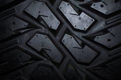 关闭卡车轮胎纹理 免版税库存图片