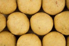 关闭印地安人Laddu甜点块菌 免版税库存照片