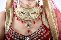 关闭印地安婚礼首饰 免版税库存图片