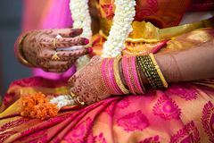 关闭印度婚姻的首饰 免版税库存图片