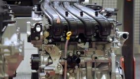 关闭发动机射击在汽车厂 影视素材