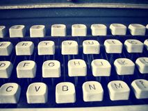 关闭古色古香的打字机关键字 图库摄影