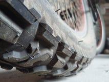 关闭周期轮胎 免版税库存照片