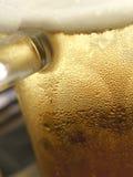 关闭啤酒杯 免版税图库摄影