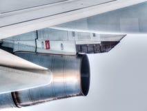 关闭喷气机引擎的看法 库存图片