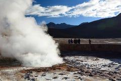关闭喷泉 El Tatio 安托法加斯塔地区 智利 免版税库存图片