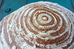 关闭圆的面包细节  免版税库存照片