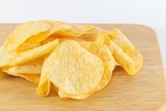关闭土豆片 免版税库存图片