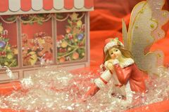 关闭圣诞节神仙 库存照片