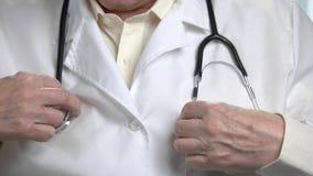 关闭在医生的听诊器 影视素材