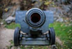 关闭在大炮 免版税库存照片
