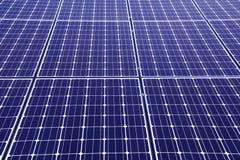 关闭在太阳电池板 免版税库存照片
