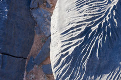 关闭在岩石的样式 库存图片