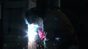 关闭在工匠和焊弧 股票录像