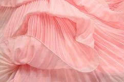 关闭在桃红色被打褶的鞋带 免版税库存图片