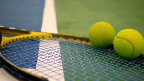 关闭在法院的网球设备 体育,休闲概念 股票视频