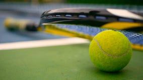 关闭在法院的网球设备 体育,休闲概念 影视素材