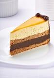 奶油色巧克力果子蛋糕 图库摄影