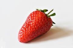 关闭在白色背景的新鲜的草莓 免版税库存照片
