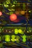 关闭在盘区的网络缆绳在服务器屋子里 免版税库存照片